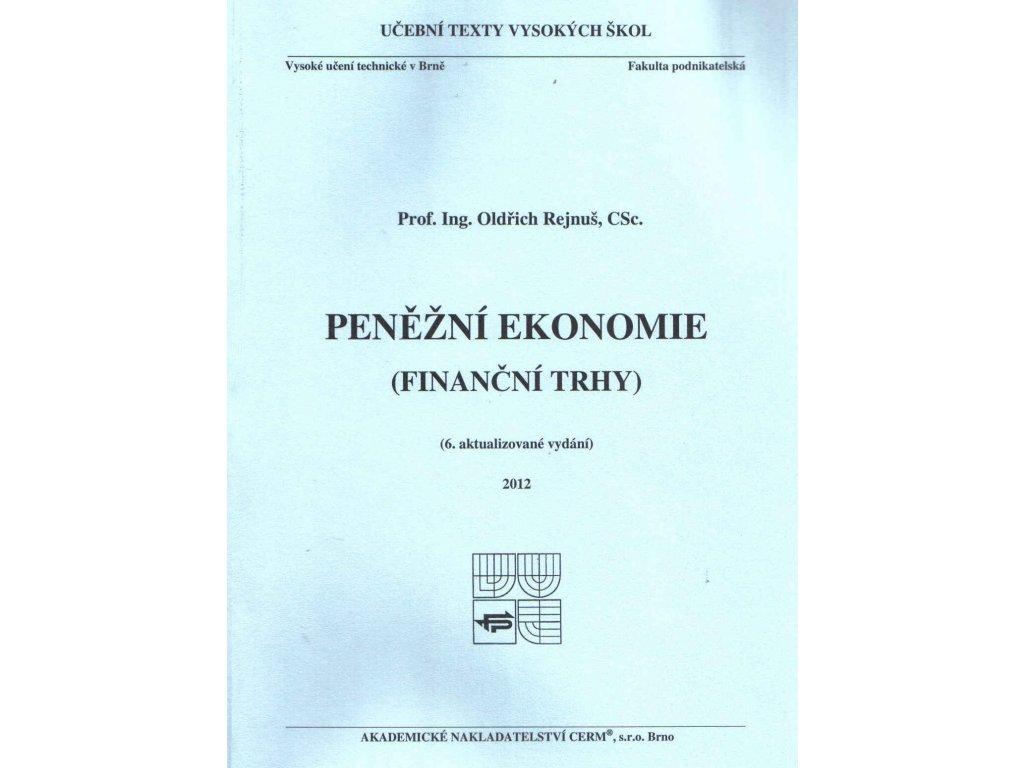 Peněžní ekonomie (Finanční trhy)