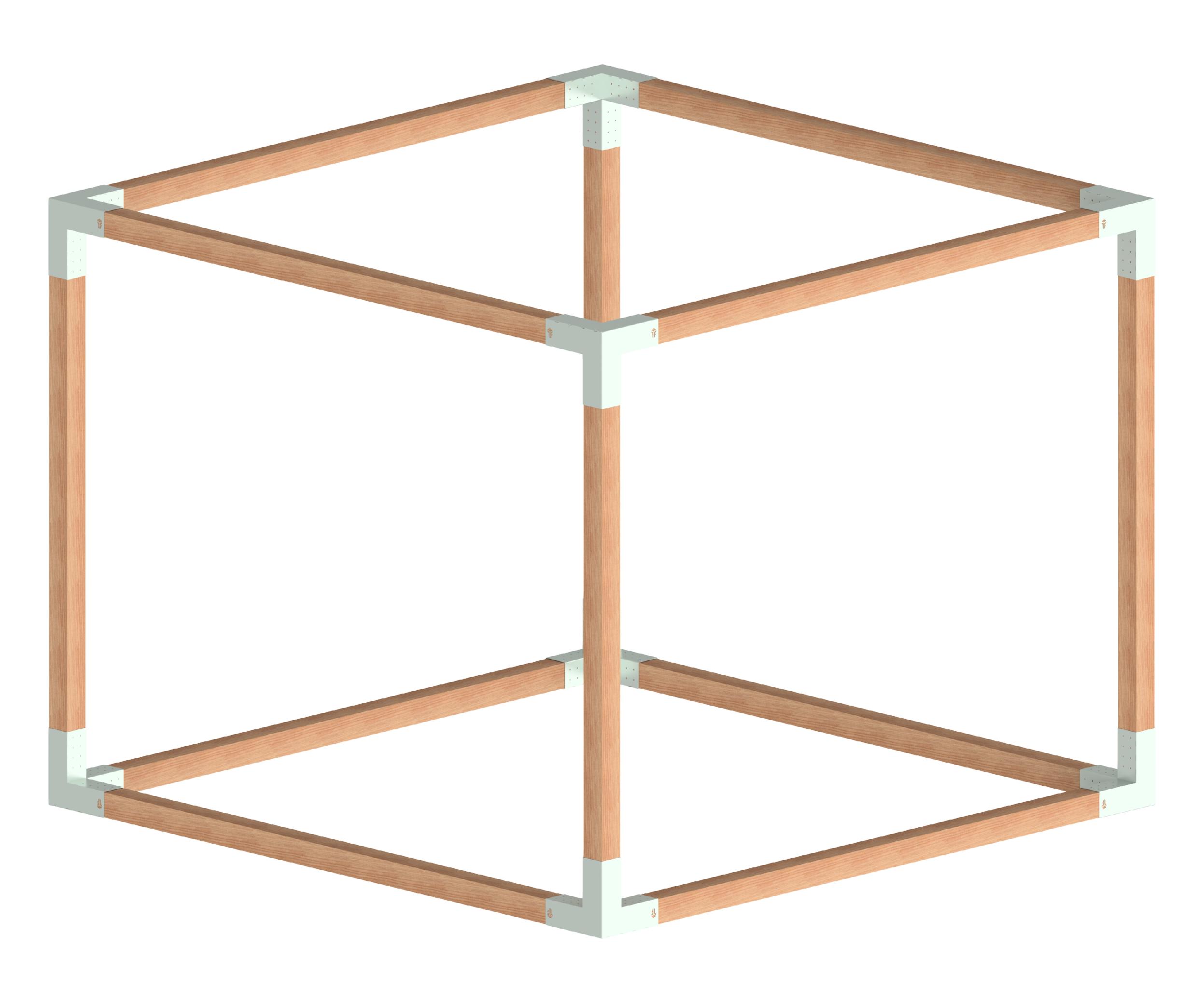 Pergola kovová, TYP: MEDIUM_02, rozměr: 3x3m-4x4m, výrobce: FYSCON POVRCHOVÁ ÚPRAVA: Galvanický zinek
