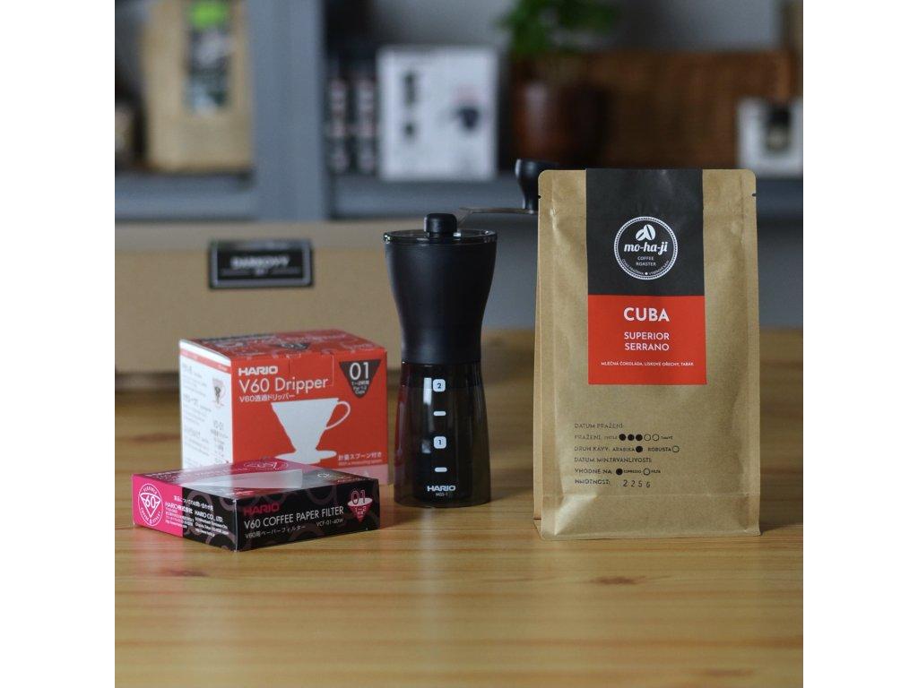 Dárkový set - mlýnek + dripper + káva