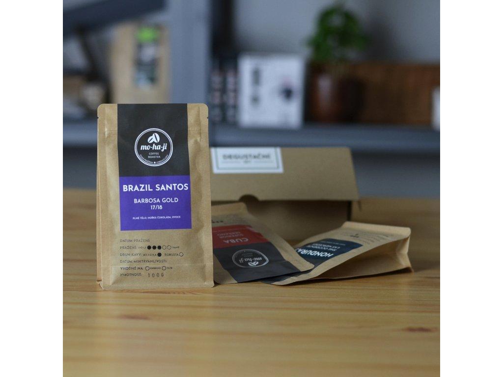 Degustační set kávy 3x 100g