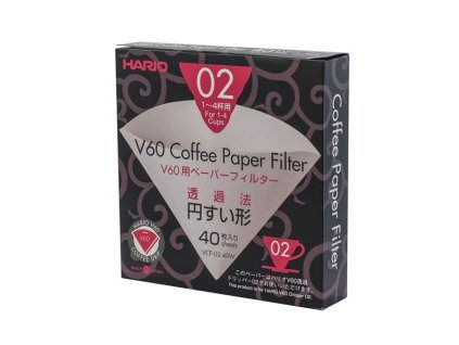 Hario papírové filtry Hario V60 02 40 ks