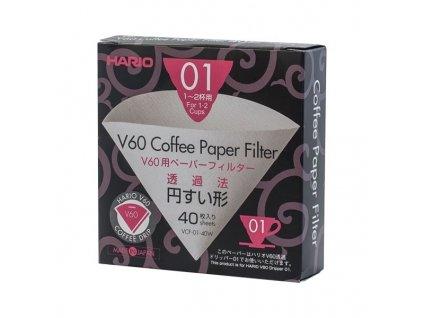 Hario papírové filtry Hario V60 01 40 ks