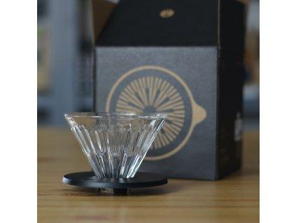 Timemore Crystal Eye skleněný dripper 01 černý