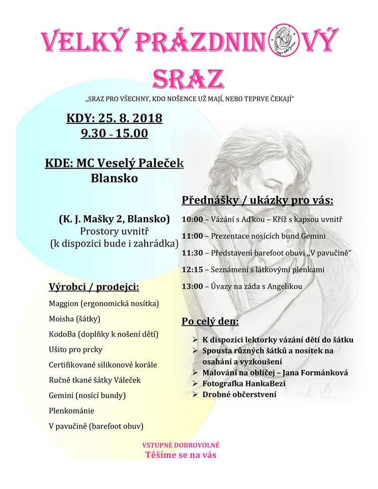 Moisha v Blansku 25. 8. 2018 9:30 - 15:00 h