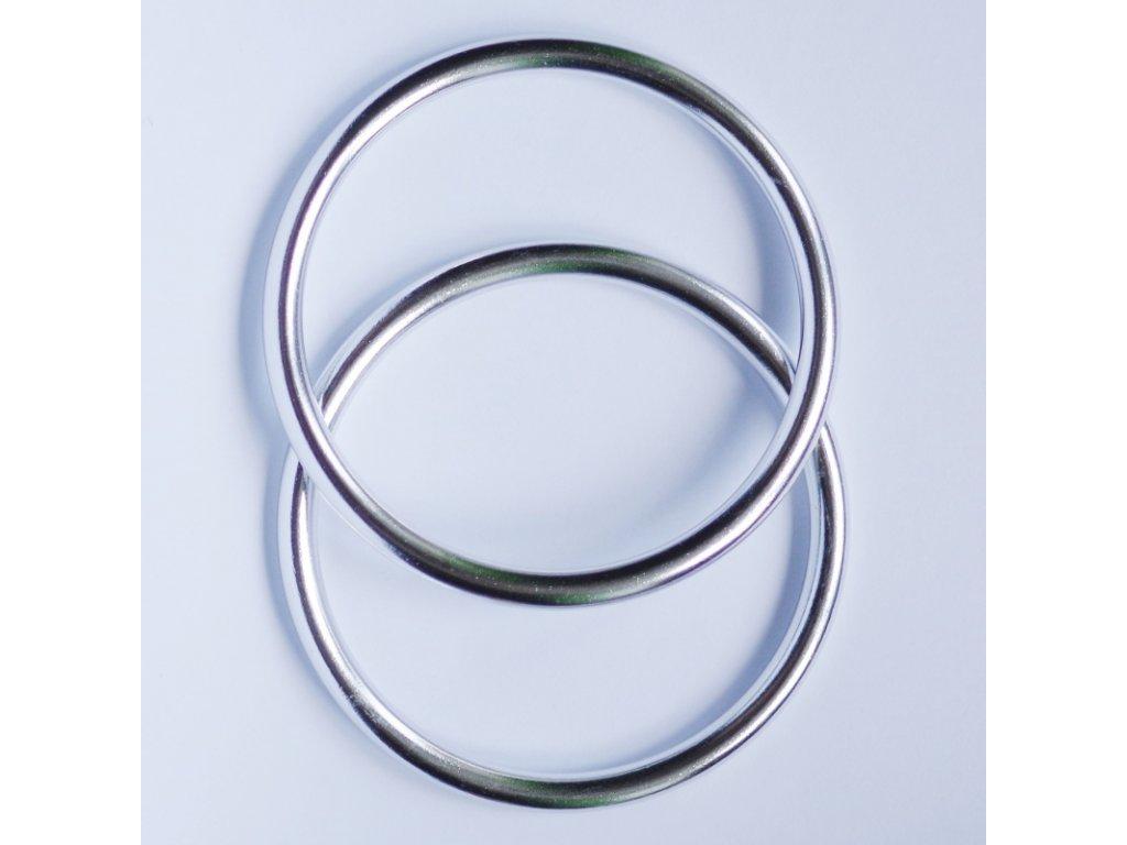 Ring sling kroužky na nošení dětí Stříbrné lesk