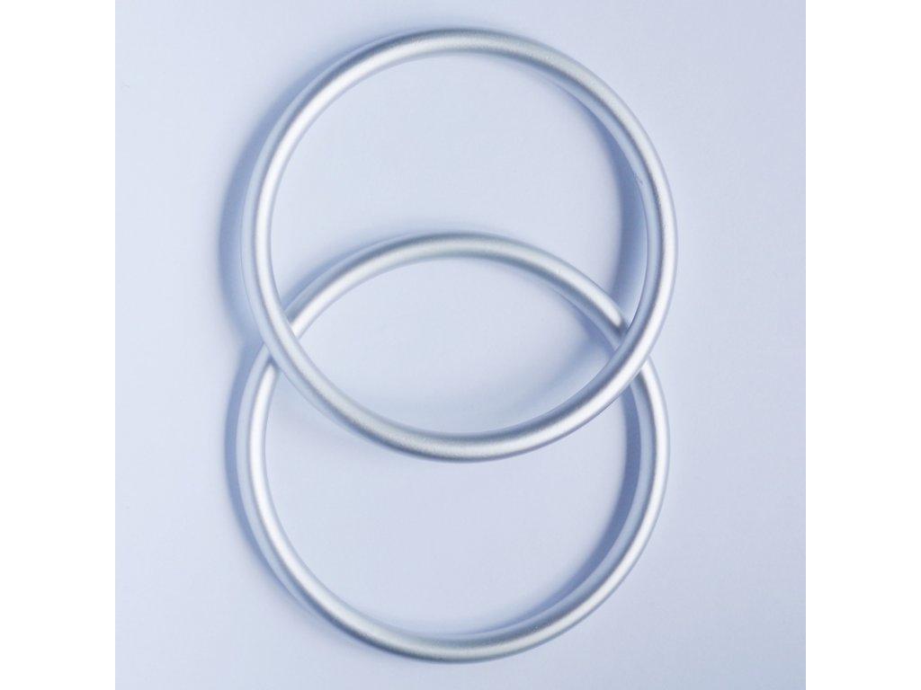Ring sling kroužky na nošení dětí Stříbrné mat