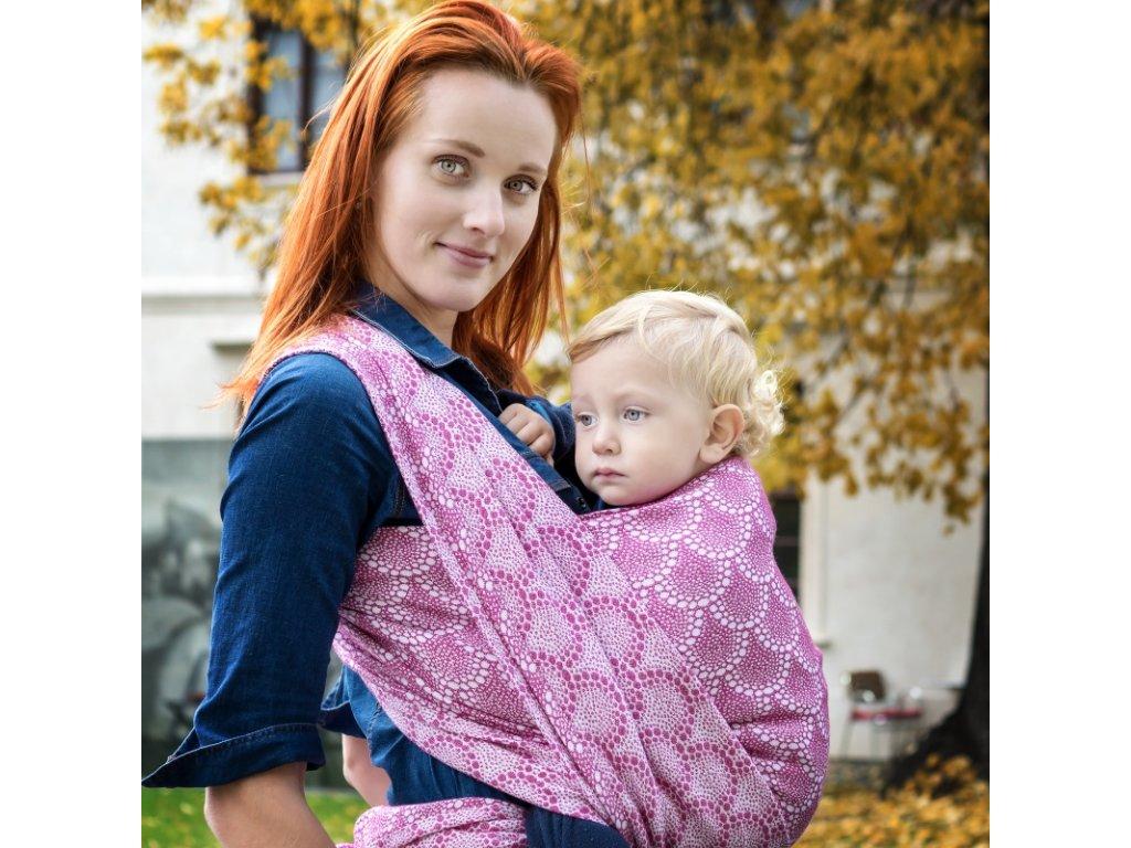 Šátek na nošení dětí Moisha Monili Fuchsia