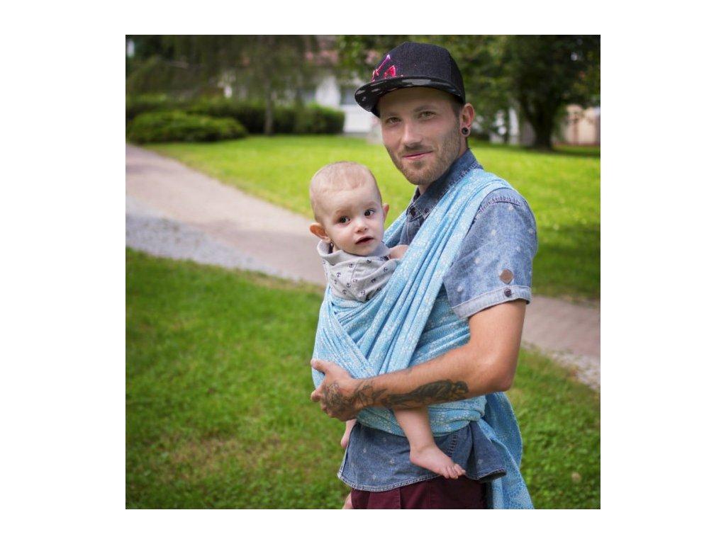 Šátek na nošení dětí Moisha Monili Tyrkys