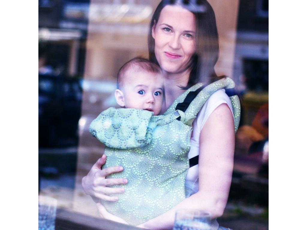 Ergonomické nosítko na nošení dětí Moisha Monili Green Grey