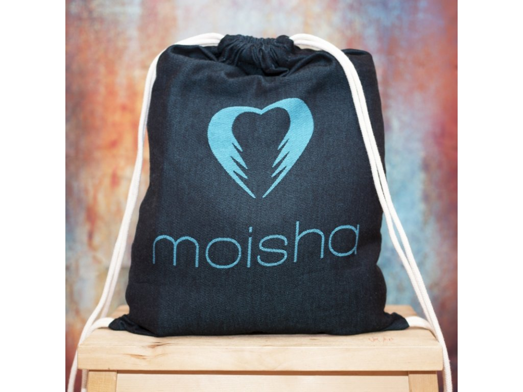 Baťůžek Moisha pro šátek na nošení dětí Černo modrý