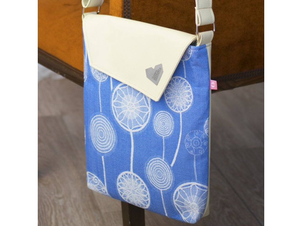 Kabelka crossbody Lovemusic by Moisha dandelions blue