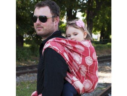 Šátek na nošení dětí Moisha Dandelions Red