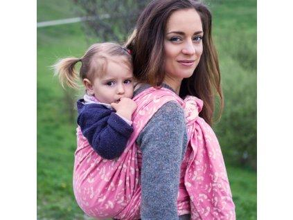 Šátek na nošení dětí Moisha Herbejo Rosé
