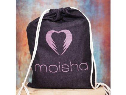 Baťůžek Moisha pro šátek na nošení dětí Černo růžový