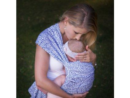 Šátek na nošení dětí Moisha Florentine Blue Nile