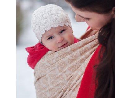 Šátek na nošení dětí Moisha Filigrán Sand
