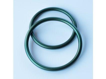 Ring sling krouzky tmave zelene