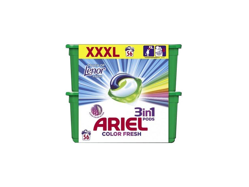 ARIEL All in 1 Gélové kapsuly - Touch of Lenor Fresh 56ks