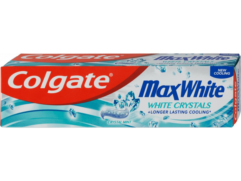 colgate zubna pasta max white white crystals