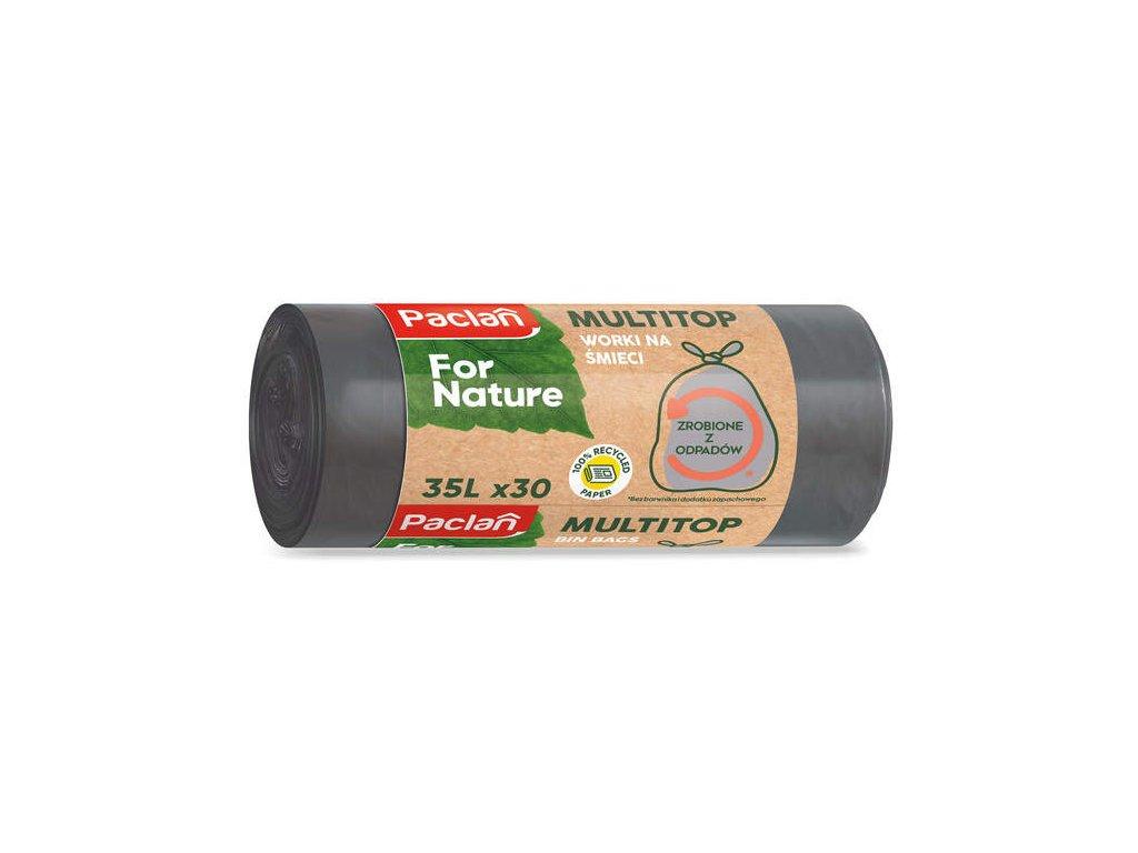 Paclan For Nature - Vrecia na odpad z recyklovaného odpadu 35l- 30ks, 16μ