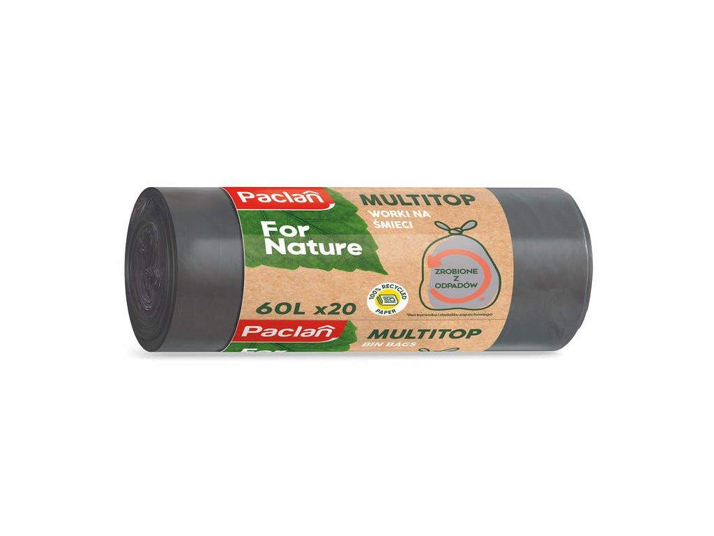 Paclan For Nature - Vrecia na odpad z recyklovaného odpadu 60l - 20ks, 18μ