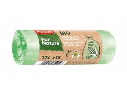 Paclan For Nature - Kompostovateľné vrecia na BIO odpad 12l - 15ks, 14μ