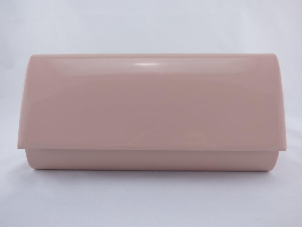 Dámska lakovaná listová kabelka v púdrovo ružovej farbe - MojaKabelka.sk f2de3798366
