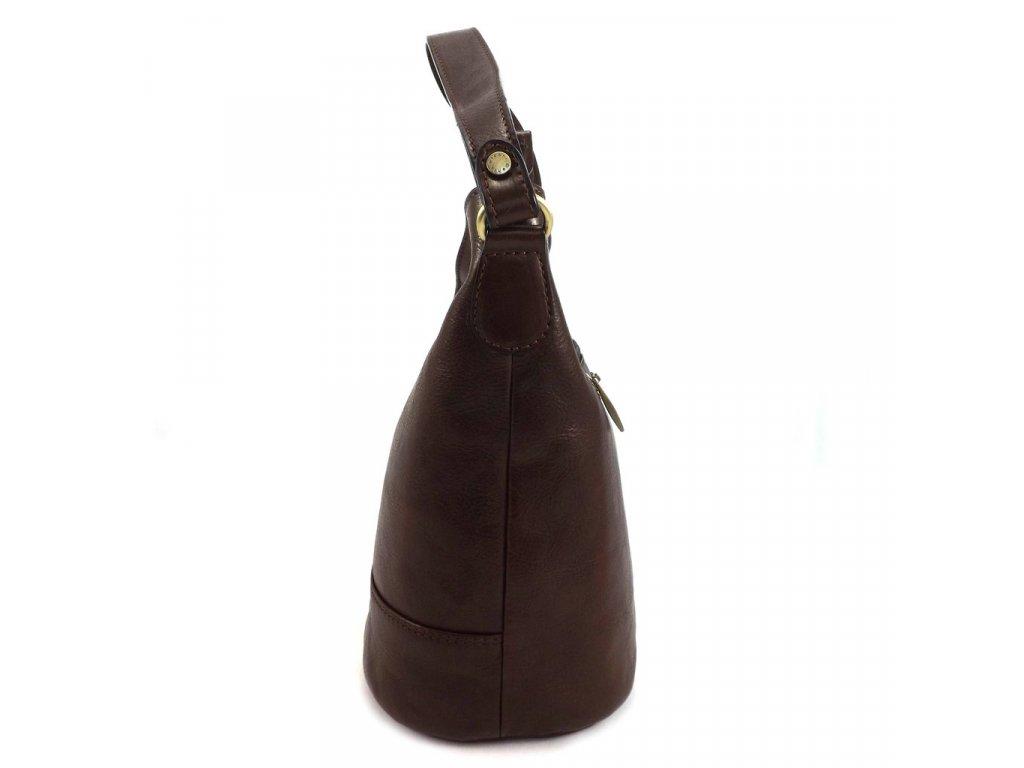 84750d1a21 Luxusná kožená kabelka Gianni Conti 9406746 hnedá - MojaKabelka.sk