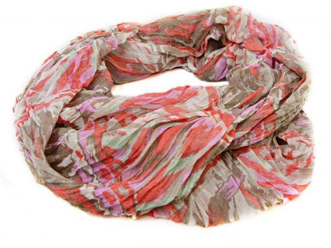 Šatka - šál s farebnými vzormi
