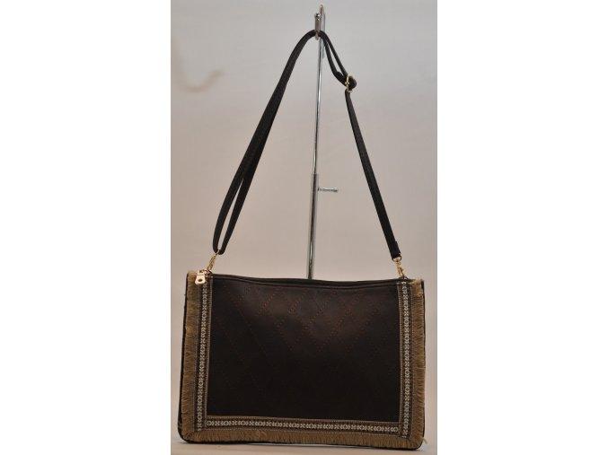 Listová kabelka v tmavohnedej farbe