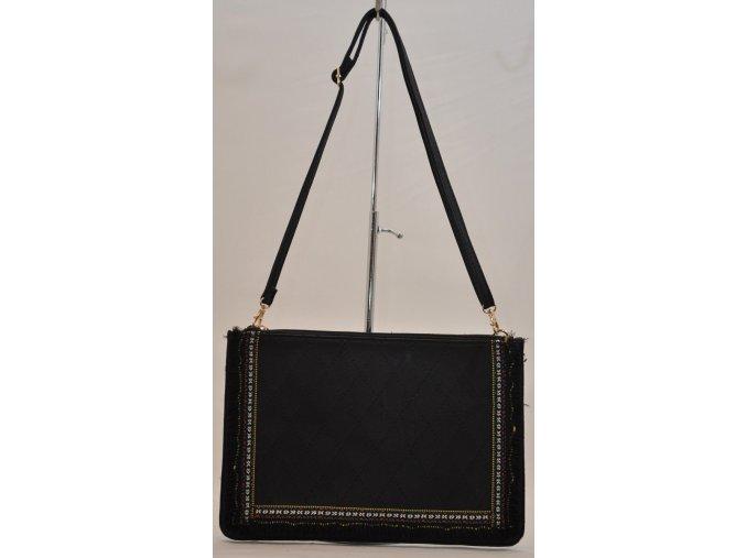 Listová kabelka v čiernej farbe