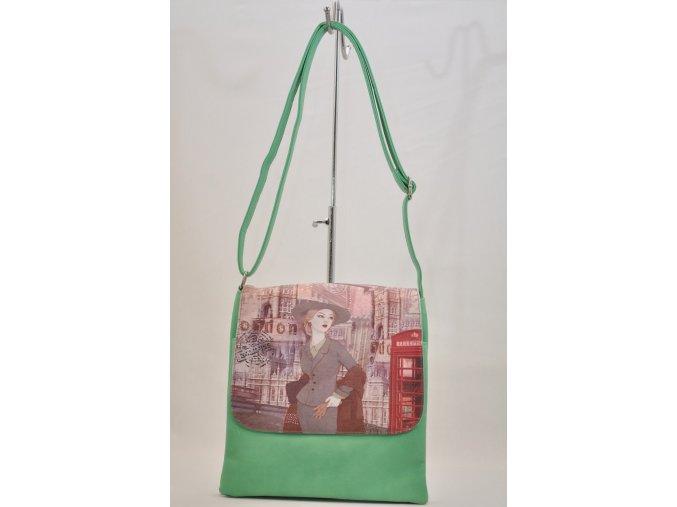 Crossbody kabelka v zelenej farbe
