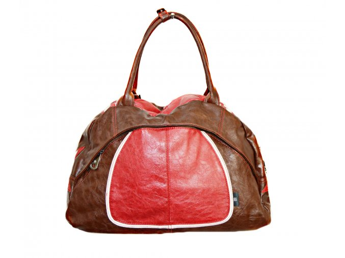 Červeno- hnedá športová kabelka