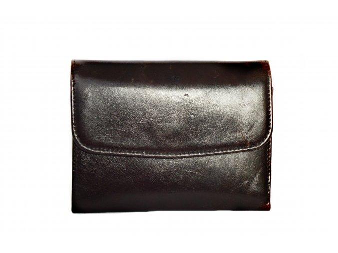 Čierna kožená peňaženka
