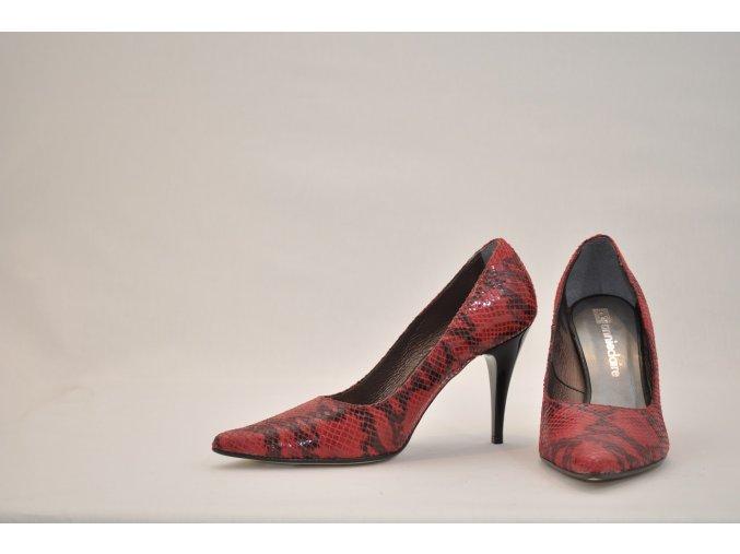 Kožené lodičky Annie Claire červené