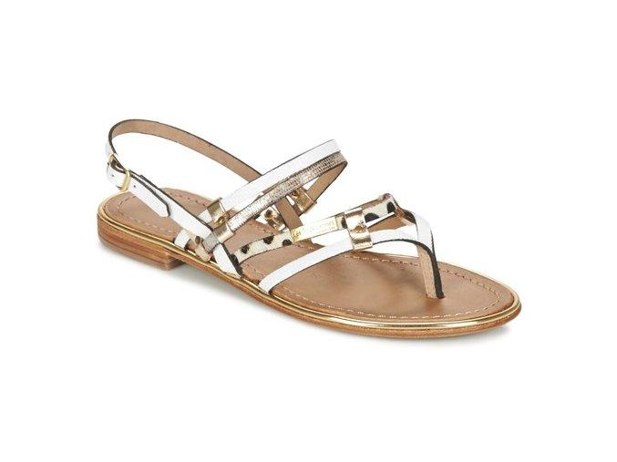 Bielo zlaté sandálky CUMIN , Les Tropeziennes PAR M.BELARBI