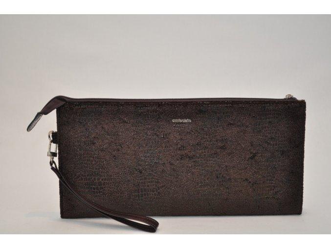 Listová kabelka v hnedej farbe