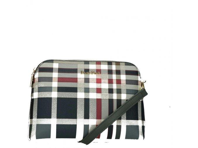 Luxusná crossbody kabelka Daniele Donati károvaná