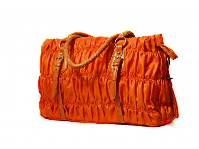 Letná kabelka v oranžovej farbe