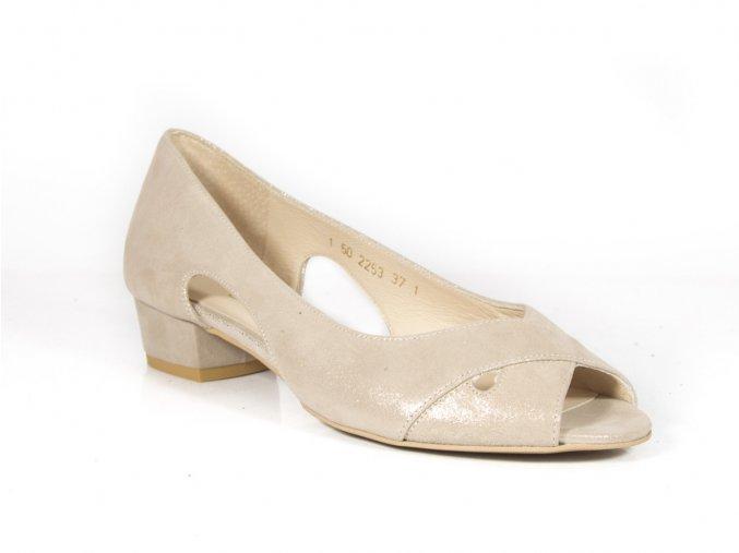 Luxusné kožené sandálky ANIS 2253 zlaté