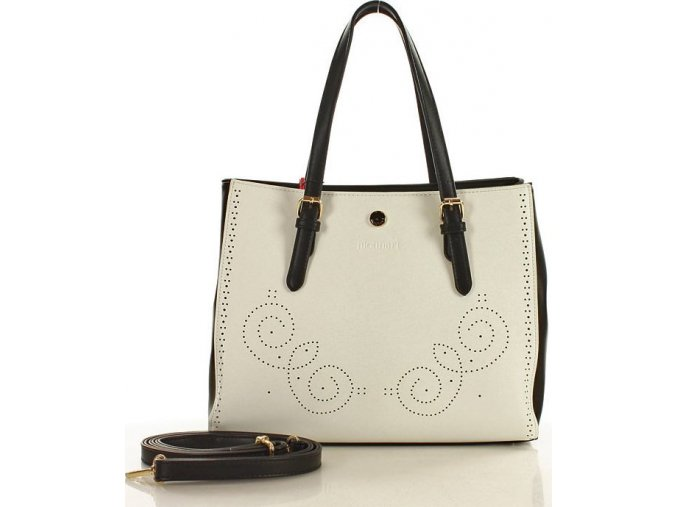 Dámska kabelka Monnari BAG 0780 bielo-čierna