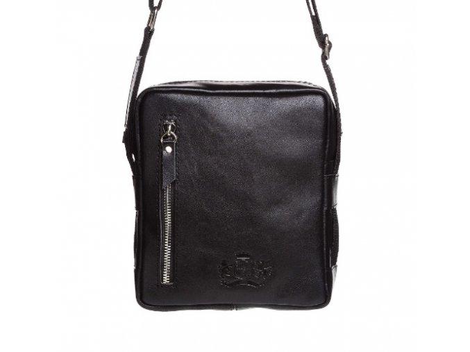 Kožená pánska crossbody taška Annie Claire  1253-2 čierna