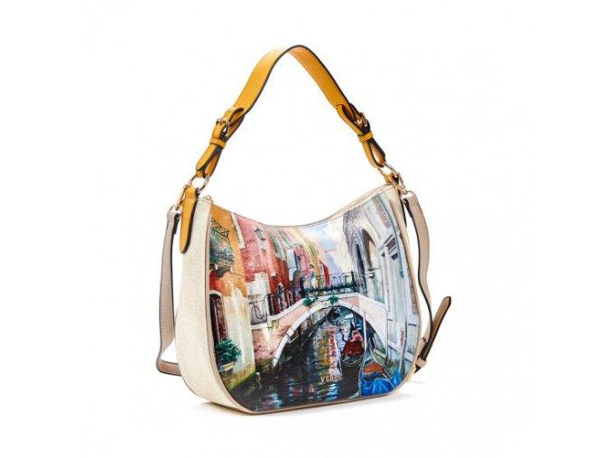Luxusná kabelka VERDE 16-5408 beige