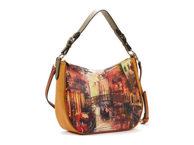 Luxusná kabelka VERDE 16-5412 Camel