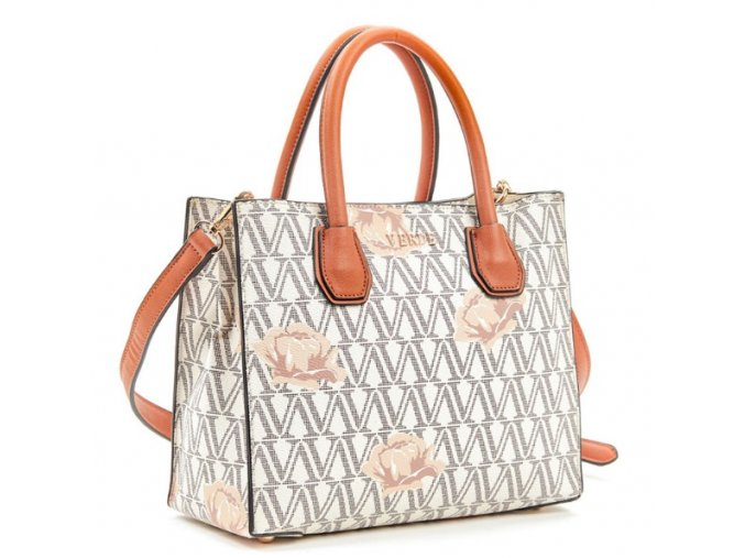 Luxusná kabelka VERDE 16-5495 béžová