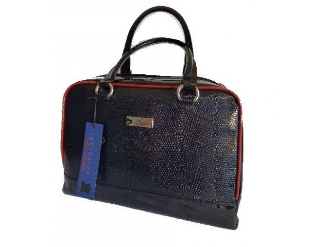 Luxusná kožená kabelka annie claire 1155 modrá