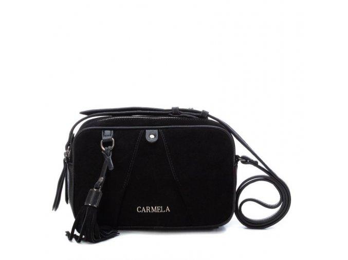 Kožená kabelka CARMELA 86409 čierna
