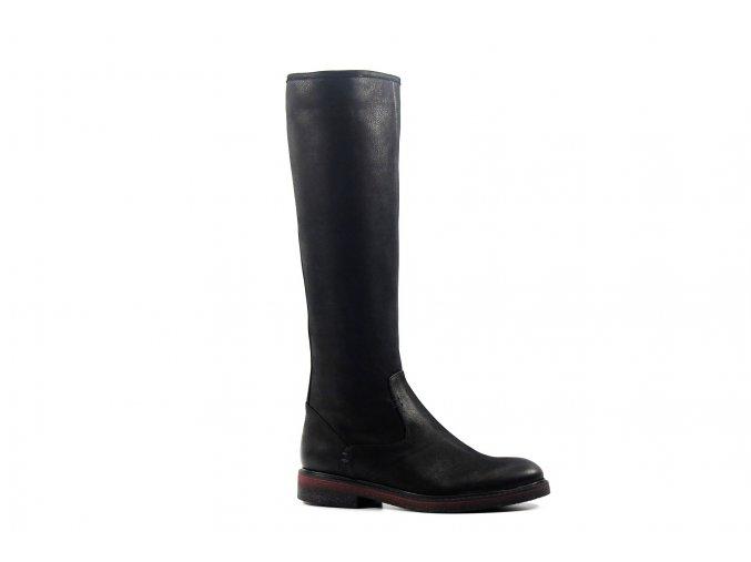 Luxusné čierne kožené čižmy KANIOWSKI K-5010/378