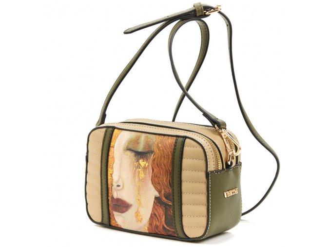 "Dámska crossbody kabelka VERDE 16-5775 ""Dievča so zlatými slzami"""