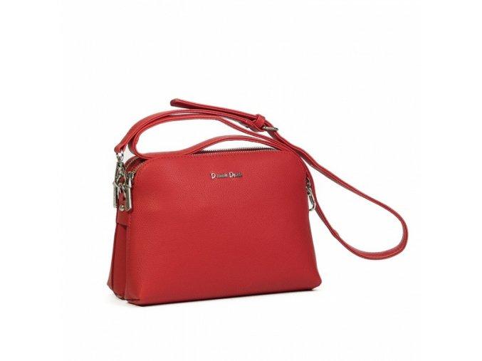 Luxusná crossbody kabelka Daniele Donati 01.143 červená